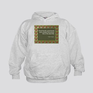 Good Friends, Good Books Kids Hoodie