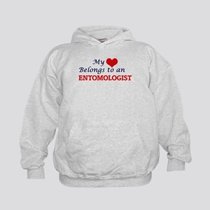 My Heart Belongs to an Entomologist Kids Hoodie