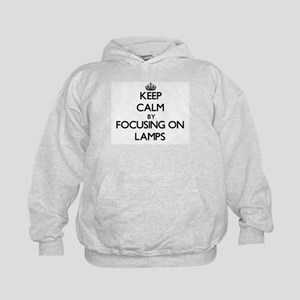 Keep Calm by focusing on Lamps Kids Hoodie