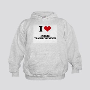I Love Public Transportation Kids Hoodie