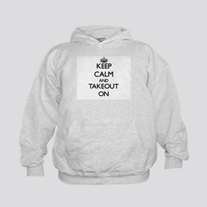 Keep Calm and Takeout ON Kids Hoodie