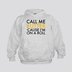 Call Me Butter Cause I'm On A Roll Kids Hoodie