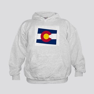 Colorado State outline Map and Flag Sweatshirt