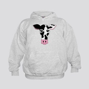 Sweet Cow Face Design Kids Hoodie
