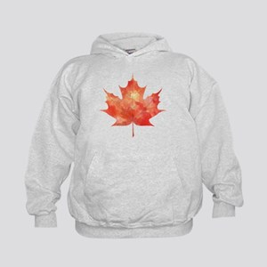 Maple Leaf Art Kids Hoodie