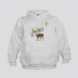 Abstract Decorated Christmas Elk Kids Hoodie