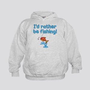 I'D RATHER BE FISHING! Kids Hoodie