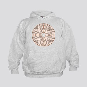 Brown Chartres Labyrinth Kids Hoodie