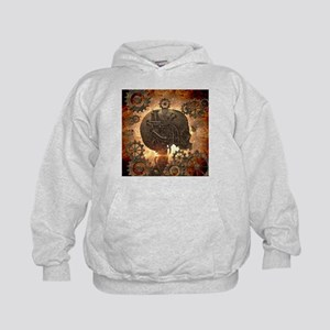 Awesome steampunk Skull with gears Hoodie