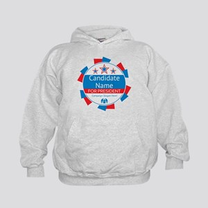 Candidate and Slogan Personalized Kids Hoodie