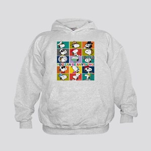 Snoopy-You Can Be Anything Kids Hoodie