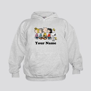 Peanuts Walking No BG Personalized Kids Hoodie