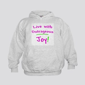 Pink Live With Outrageous Joy Kids Hoodie