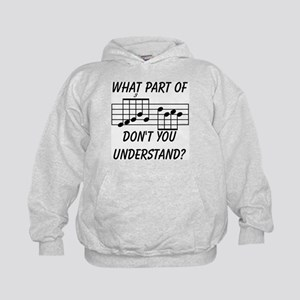 What Part Of Musical Notation Kids Hoodie