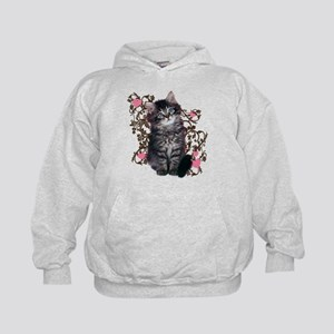 Cute Kitten Kitty Cat Lover Kids Hoodie