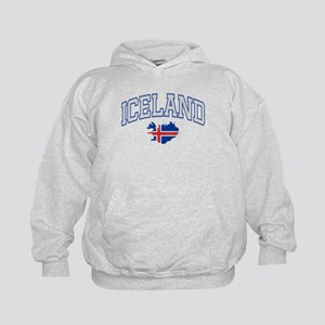 Iceland Map English Kids Hoodie