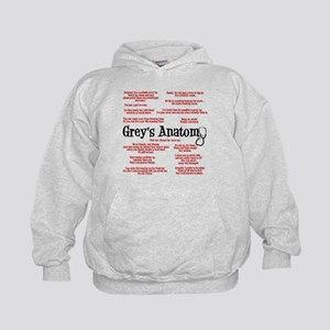 Grey's Anatomy Quotes Kids Hoodie