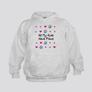 All My Kids/Children Have Paws Kids Hoodie