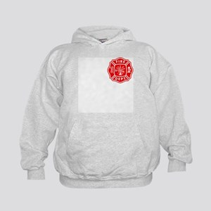 Personalized Fire Department Crest Kids Hoodie