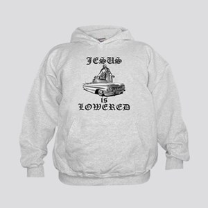 Jesus Is Lowered Kids Hoodie