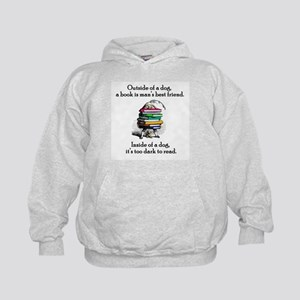 A Book is Man's Best Friend Kids Hoodie