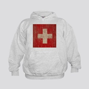 Vintage Switzerland Flag Kids Hoodie