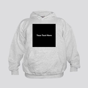 Black Background with Text. Kids Hoodie