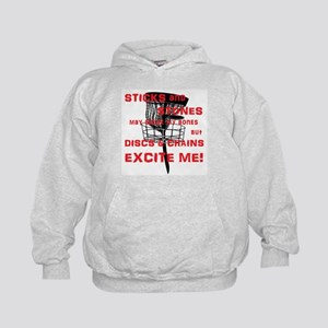 Discs and Chains Excite Me Kids Hoodie