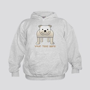 Bulldog and Text. Hoodie