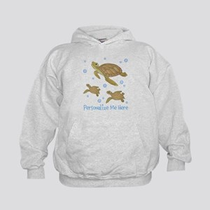 Personalized Sea Turtles Kids Hoodie