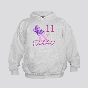 Fabulous 11th Birthday For Girls Kids Hoodie