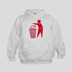 Red Please Dont Litter Hoodie