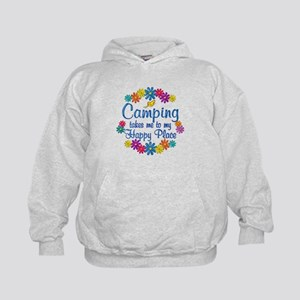 Camping Happy Place Kids Hoodie
