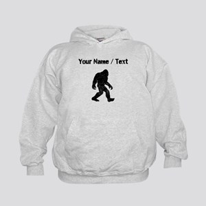 Custom Distressed Bigfoot Silhouette Hoodie