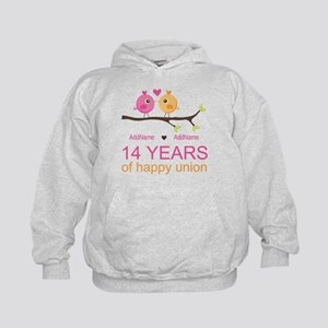 14th Anniversary Personalized Kids Hoodie
