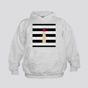 Red Lipstick Strioes Hoodie