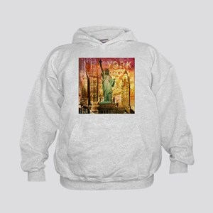 cool statue of liberty Kids Hoodie
