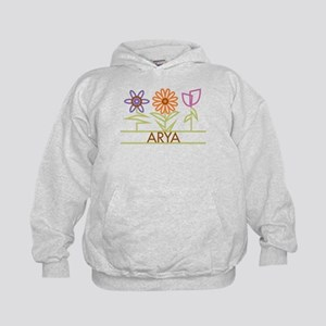 Arya with cute flowers Kids Hoodie