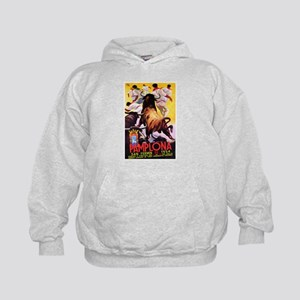 Vintage Pamplona Spain Travel Hoodie