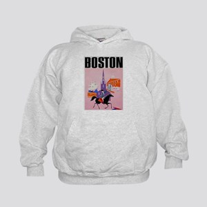 Vintage Boston MA Travel Hoodie