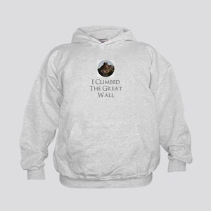 I Climbed The Great Wall Kids Hoodie