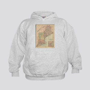 Vintage Map of New England (1880) Sweatshirt