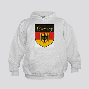 Germany Flag Crest Shield Kids Hoodie