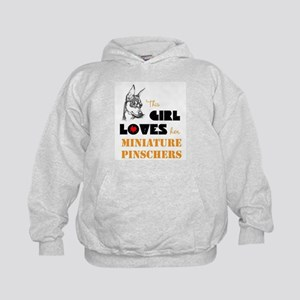 Girl Loves her Min Pins Kids Hoodie