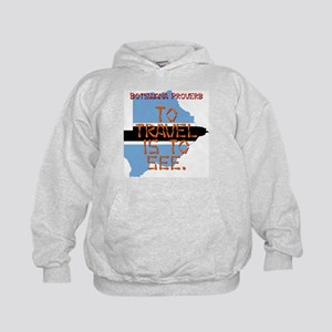 To Travel Is To See - Botswana Kids Hoodie