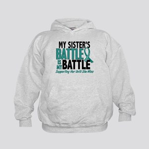 My Battle Too Ovarian Cancer Kids Hoodie