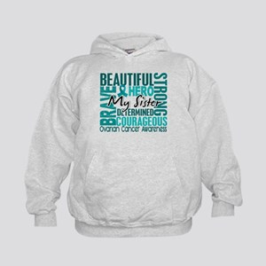 Tribute Square Ovarian Cancer Kids Hoodie
