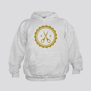 Gold Glitter Scissors Hairstylist logo Sweatshirt