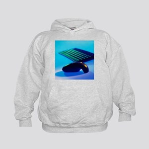 Cordless mouse and keyboard - Kids Hoodie