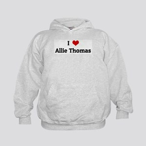 I Love Allie Thomas Kids Hoodie